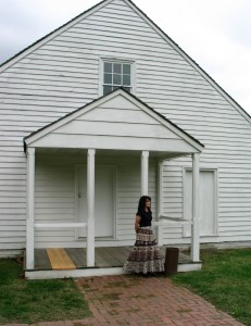 Outside the plantation office building where Stonewall Jackson died, Guinea Station, Virginia.